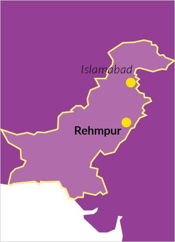 Rehmpur im Distrikt Okara (Punjab, Pakistan)