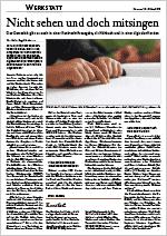Bistumspresse Nr. 10 (Auszug): Nicht sehen und doch mitsingen | Link öffnet PDF in neuem Fenster