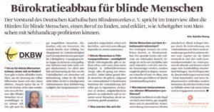 MediaPlanet März 2019: Bürokratieabbau für blinde Menschen