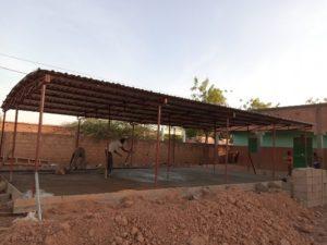 Die Stelle, an der das neue Gebäude errichtet wird